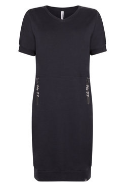 Zoso Jane Sweat dress with printed zippers