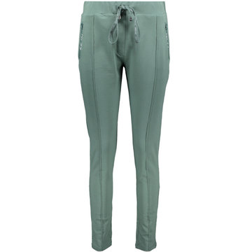 Zoso Hope Greenstone Sweat pant with printed zippers