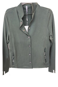 Zoso Game Greenstone Sweat jacket with printed zippers