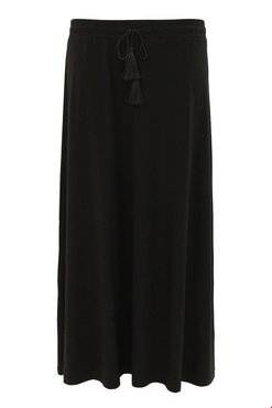 Tramontana Skirt Long Solid Black