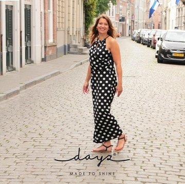 Dayz Edith - Bolletjes print jurk
