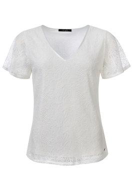 Dayz Emilia - Kante top in het off white