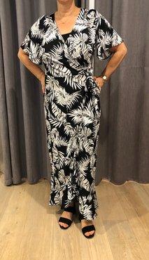 Dayz Eloise - Zwarte blader print jurk