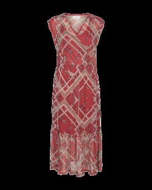 Freequent jurk Brick met print