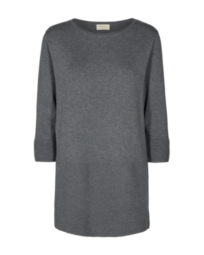 Freequent Jone-tu-links Jurk Dark Grey melange