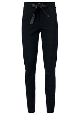 Dayz Edrea - Zwarte travel broek met een santijnen lint.