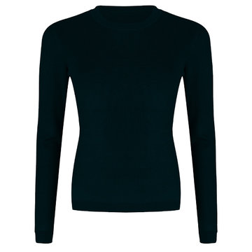 Esqualo Sweater shoulder gathering Zwart