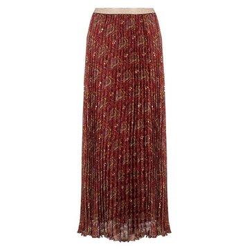 Esqualo Skirt plisse paisley