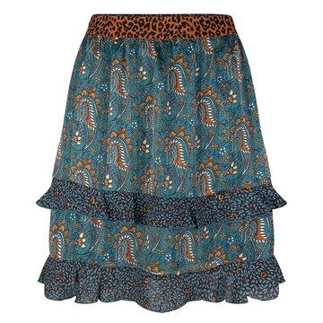 Esqualo Skirt paisley leave print