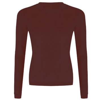 Esqualo Sweater shoulder gathering Plum