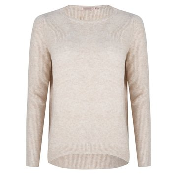 Esqualo Sweater fancy ribbing Beige