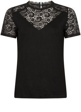 Tramontana Top Paisley Lace Mix Zwart