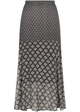 Tramontana Skirt Dark Ornament Print