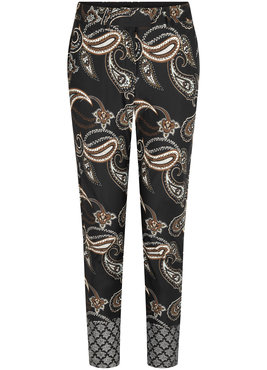 Tramontana Trousers Travel Dark Paisley Print
