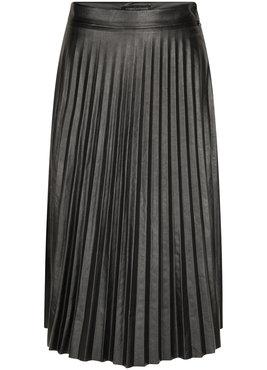 Tramontana Skirt Pleats PU Zwart