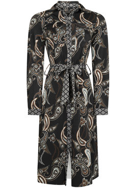 Tramontana Dress Travel Dark Paisley Print