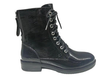 PS Poelman Crack patent Pu Biker boots
