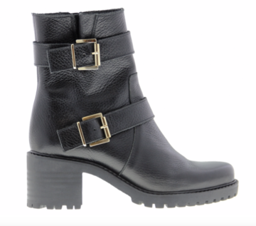 Tango Emily Sportive 18-a black leather buckle biker boot
