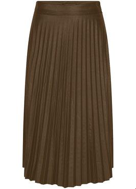 Tramontana Skirt Pleats PU Bruin