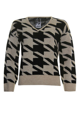 Poools Sweater pied taupe