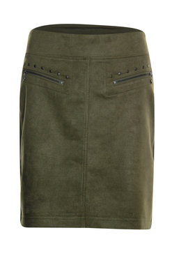Poools Skirt Zips Olive Night