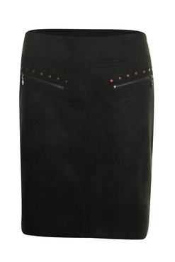 Poools Skirt Zips Black