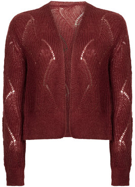Tramontana Cardigan Mohair Wine Red