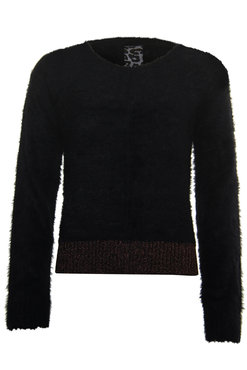 Poools Sweater Lurex Part Black