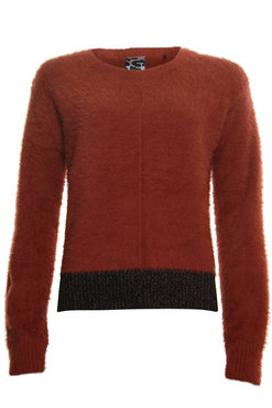 Poools Sweater Lurex Part burnt brick