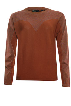 Poools Sweater Lurex Rust Brown