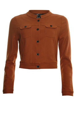 Poools Jacket Short Rust Brown