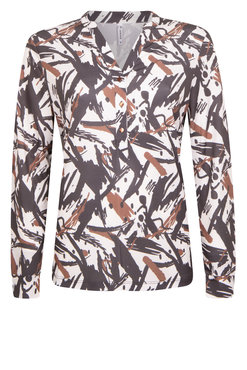 Zoso Shirley Off white print blouse