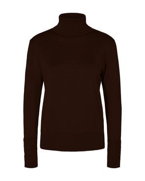Freequent Katie-pu-button-roll trui Zwart