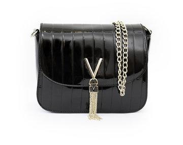 Valentino tas zwart lak Plattina