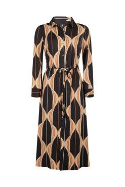 K-Design Maxi jurk R836 met een grapic print