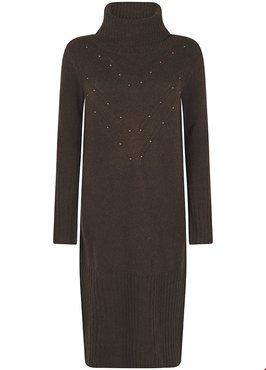 Tramontana Dress Knit Stud Detail