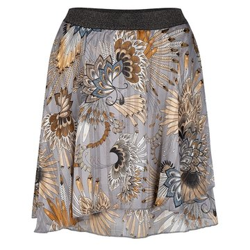 Esqualo Skirt Feather flower print