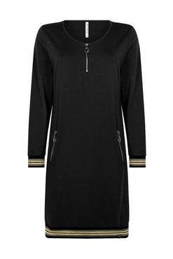 Zoso Amanda zwarte jurk met tricotband