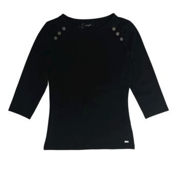 Dayz Francis - Zwart basis Shirt met studs
