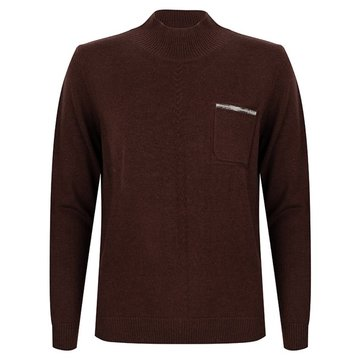 Esqualo Sweater melange chest pocket Chocolate