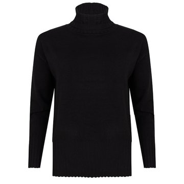 Esqualo Sweater col high rib hem & cuff