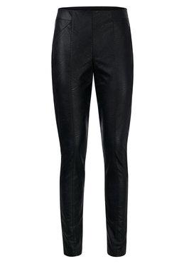 Dayz Foxy -  Look a like leather zwarte broek