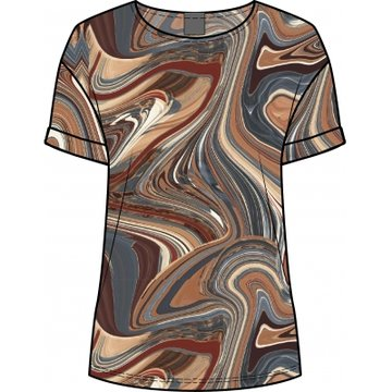 One two luxzuz Karin Marble T-shirt