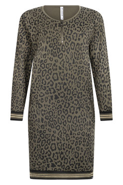 Zoso Amelie Allover sweat print jurk