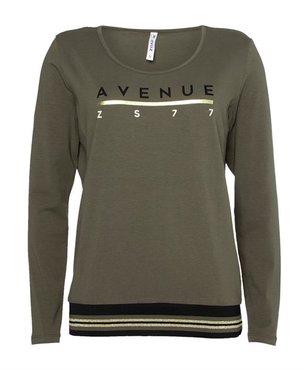 Zoso Avenue Shirt met tricoband Groen/Zwart