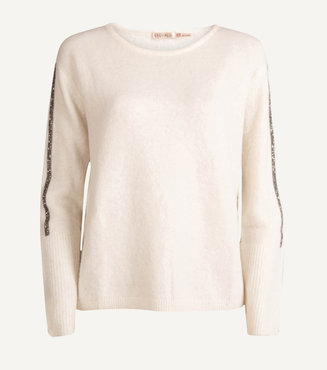 Esqualo Sweater Sleeve tapes Off White