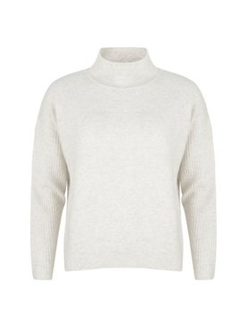 Esqualo Sweater Col Cable Knitting Off White