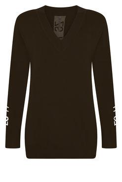 Zoso Penny Zwarte V-hals sweater