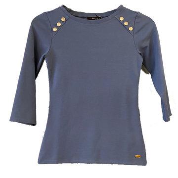 Dayz Francis - Blauw basis Shirt met studs
