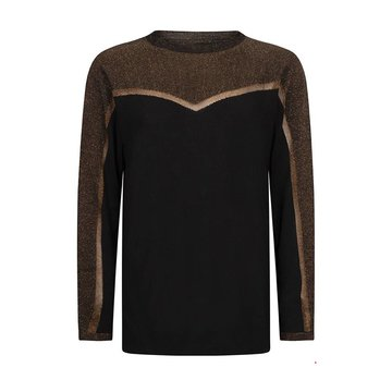 Tramontana Jumper Lurex V-Shape Black